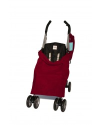 Double Red Fleece Buggy Blanket