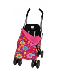 Multi Daisy Flower Buggy Blanket