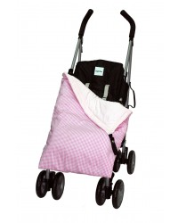 Summer Cotton Pink Check Buggy Blanket