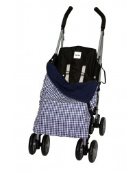 Summer Cotton Navy Check Buggy Blanket