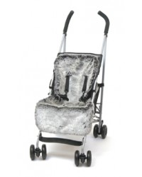 Reversible Luxury Charcoal Faux Fur Buggy Liner