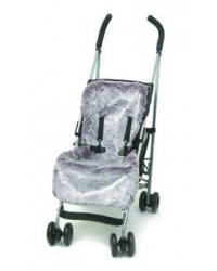 Reversible Luxury Damson Faux Fur Buggy Liner