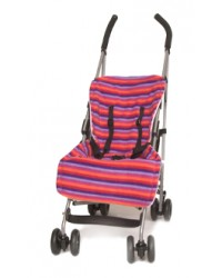 Reversible Stripes & Pink Buggy Liner