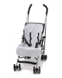 Reversible Charcoal & Silver Fleece Buggy Liner