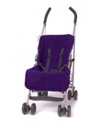 Reversible Navy & Purple Fleece Buggy Liner