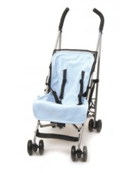Reversible Navy & Sky Blue Fleece Buggy Liner