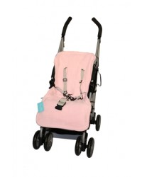 Reversible Pink & Silver Fleece Buggy Liner