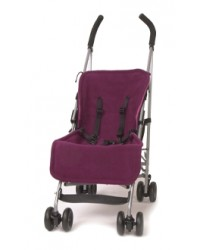 Reversible Plum & Cerise Fleece Buggy Liner
