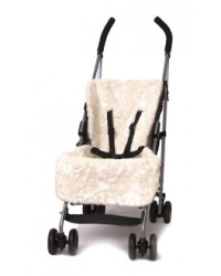 Reversible Luxury Crushed Ivory Faux Fur Buggy Liner