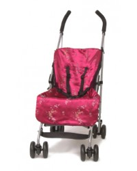 Reversible Padded Cerise Oriental Buggy Liner