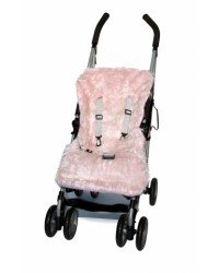 Reversible Shaggy Pink Faux Fur Buggy Liner