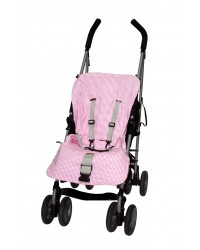 Reversible Pink Check Summer Cotton Buggy Liner