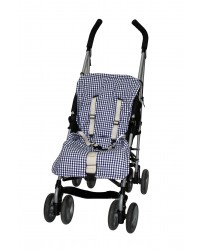 Reversible Navy Check Summer Cotton Buggy Liner
