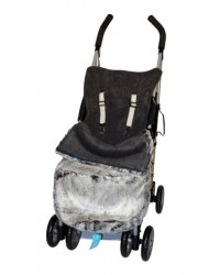 Luxury Charcoal Faux Fur Buggy Muff