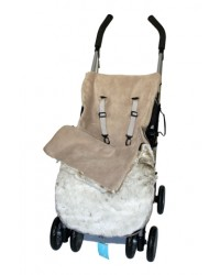 Luxury Taupe Faux Fur Buggy Muff