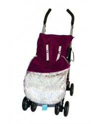 Luxury Damson Faux Fur Buggy Muff