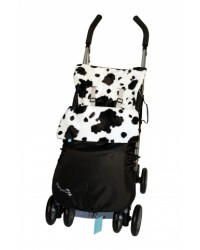 Weatherproof Black Cow Buggy Muff