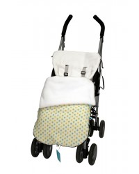 Reversible Cream & Turquoise Polka Dot Buggy Muff