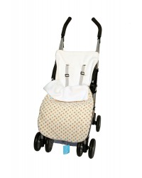 Reversible Cream & Pink Polka Dot Buggy Muff
