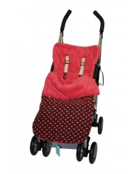 Reversible All Pink Polka Dot Buggy Muff