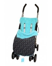 Reversible All Turquoise Polka Dot Buggy Muff