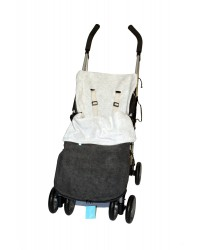 Reversible Charcoal & Silver Fleece Buggy Muff