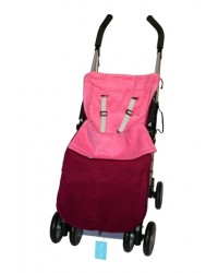Reversible Plum & Cerise Fleece Buggy Muff