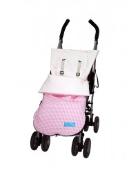 Reversible Pink Check Summer Cotton Buggy Muff