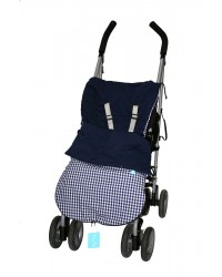 Reversible Navy Check Summer Cotton Buggy Muff