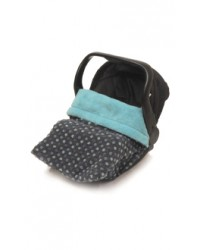 Reversible All Turquoise Polka Dot Car Seat Blanket