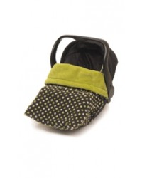 Reversible Lime Polka Dot Car Seat Blanket