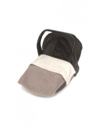 Reversible Taupe & Cream Fleece Car Seat Blanket