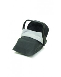 Reversible Charcoal & Silver Fleece Car Seat Blanket