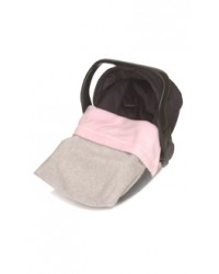 Reversible Pink & Silver Fleece Car Seat Blanket