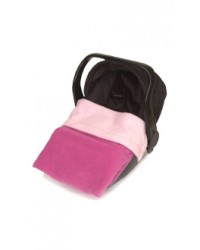 Reversible Pink & Cerise Fleece Car Seat Blanket