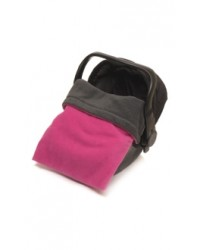 Reversible Charcoal & Cerise Fleece Car Seat Blanket