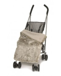 Reversible Luxury Taupe Faux Fur Buggy Blanket
