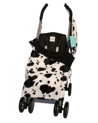 Reversible Black Cow Buggy Blanket