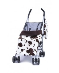 Reversible Brown Cow Buggy Blanket