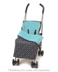Reversible All Turquoise Polka Dot Buggy Blanket
