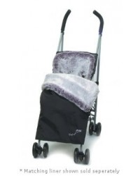 Weatherproof Luxury Damson Faux Fur Buggy Blanket
