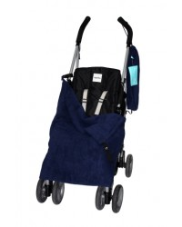 Double Navy Fleece Buggy Blanket