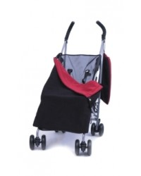 Reversible Black & Red Fleece Buggy Blanket