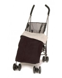 Reversible Black & Grey Fleece Buggy Blanket