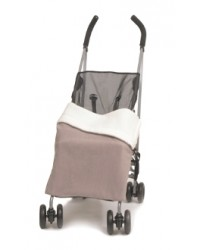 Reversible Taupe & Cream Fleece Buggy Blanket