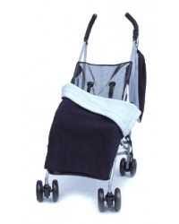 Reversible Navy & Sky Blue Fleece Buggy Blanket
