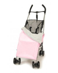 Reversible Pink & Grey Fleece Buggy Blanket