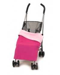 Reversible Cerise & Pink Fleece Buggy Blanket
