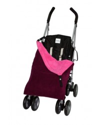 Reversible Plum & Cerise Fleece Buggy Blanket