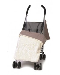 Reversible Luxury Crushed Ivory Buggy Blanket